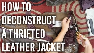 Download How to Deconstruct a Thrifted Leather Jacket Video