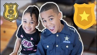 Download Police Kid Chases Baby Sister Pretend Play   FamousTubeKIDS Video