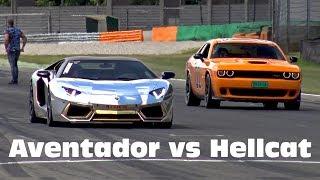 Download Lamborghini Aventador LP700 vs Dodge Challenger SRT Hellcat Video