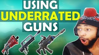 Download THE BURST RIFLE IS INSANE! | USING UNDERRATED GUNS - (Fortnite Battle Royale) Video
