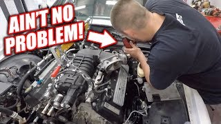 Download Burnout Patrol EP.3 - Cutting Out Room For FREEDOM.. GT500's Transmission Hardly Fits! Video