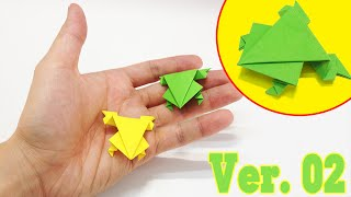 Download Kids easy origami - How to make a jumping frog ver.2 Video