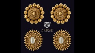 Download Latest Gold Ear Studs Designs|Small Tops| Video