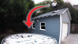 Download Surfing off the Roof into a Broken Trampoline! - You Say We Do Video