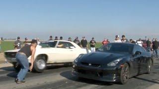 Download 560hp GT-R vs MUSCLE - Cali Street Racing Video