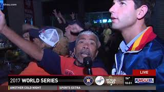 Download 'Boom there it is': Fans go crazy live on air as Astros' Springer hits home run in Game 5 Video