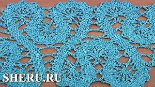 Download Crochet Lace of the Buges Tutorial 19 Part 1 of 2 Кайма или лента в технике брюггского кружева Video