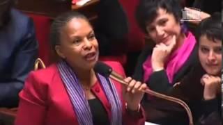 Download Christiane Taubira défend le mariage pour tous avec vigueur à l'Assemblée Nationale. Video