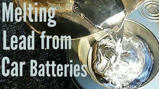 Download Melting Lead From Car Batteries Video