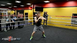 Download Carl Frampton looking sharp & fast one week away from rematch with Leo Santa Cruz Video