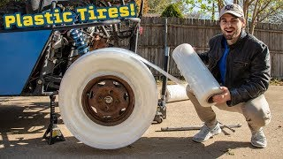 Download We Made PLASTIC WRAP TIRES! Video