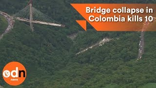 Download Bridge collapse in Colombia kills workers Video