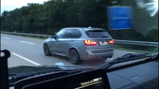 Download Mercedes G 63 AMG Edition 463 vs BMW X5M F85 On German Autobahn Video