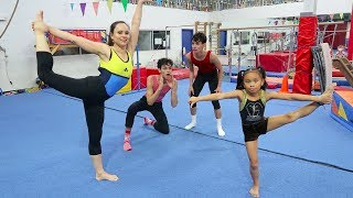 Download WHO WILL WIN? (FAMILY GYMNASTICS CHALLENGE) Video