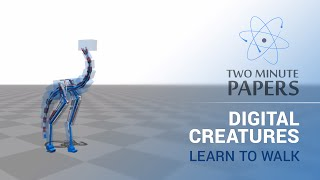 Download Digital Creatures Learn To Walk | Two Minute Papers #8 Video