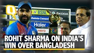 Download Rohit Sharma on India's Win Over Bangladesh | The Quint Video