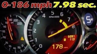 Download Nissan GT-R Alpha Omega: BRUTAL 0-186 mph = 7.98 sec. [0-100mph = 3.03] Video