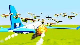 Download Flock of Birds Causes Jumbo Jet Crash - Brick Rigs Best Workshop Creations Lego Game Video