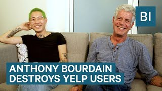 Download Anthony Bourdain Destroys Yelp Users Video