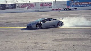 Download STUNT DRIVER SLIDES SUPERCHARGED LAMBORGHINI AT IRWINDALE! Video