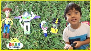 Download GIANT BALLOONS SURPRISE TOYS and Ball Pit challenge in huge pool Disney toys Ryan ToysReview Video