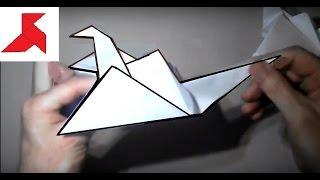 Download Как сделать оригами журавлика из бумаги А4? Video