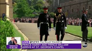 Download Prince Harry and Prince William arrive for Royal Wedding Video