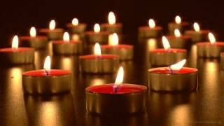 Download 🕯Virtual Candles: Relaxing Burning Tea Lights with Soothing Wind Chimes (HD) Video