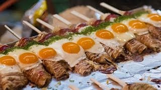 Download Japanese Street Food - Hashimaki Takoyaki and more Festival Foods in Japan Video
