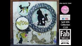 Download 21.Cardmaking Tutorial: FabScraps Spilt Milk Kitty Kat Shaker Card Video