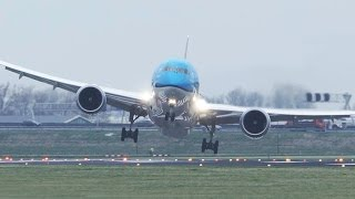 Download Storm! Crosswind Landings during a STORM at Amsterdam Schiphol - 50 Minutes version Video