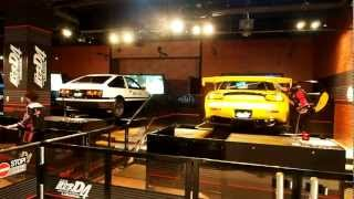 Download Initial D 4th Stage - Arcade With Real Cars Odaiba Japan Video