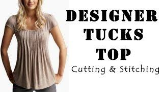 Download Designer Tucks Top Cutting & Stitching | Latest Top Designs Video