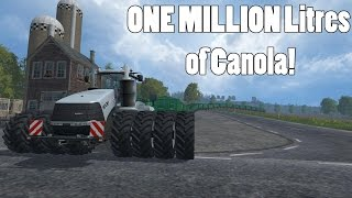 Download Farming Simulator 15 - 1100 HP Tractor Hauling One Million Litres of Grain! - Part 2 Video