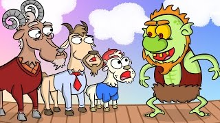 Download Three Billy Goats Gruff & the Troll - Story Time at Cool School! Video