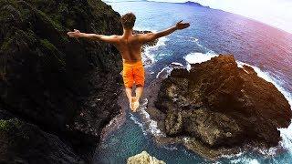 Download Cliff Jumping Hawaii 2.0 - 80 Foot Jump! Video