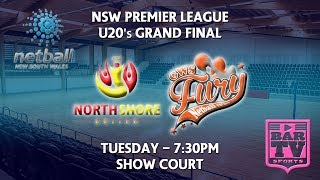Download 2018 Netball NSW U20's Grand Final - Show Court - North Shore United v GWS Fury Video