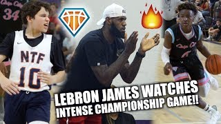 Download LEBRON JAMES IS LIT🔥 WATCHING HEATED CHAMPIONSHIP GAME!! | NCBC vs NTF at Balling on the Beach Video