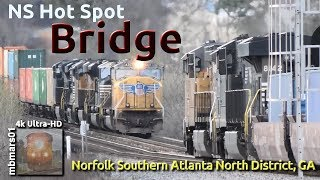 Download [6g][4k] Norfolk Southern Hot Spot: Bridge, NS Atlanta North District, GA 03/16/2019 Video