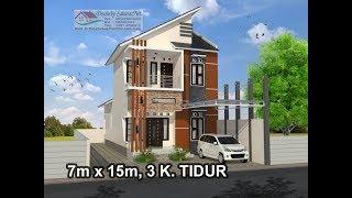 Download Rumah Minimalis Lantai 2 Modern House (7x15) 3 K. Tidur Video