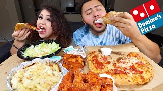 Download Huge Dominos Pizza & Wings Feast MUKBANG Video