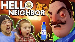 Download HELLO NEIGHBOR! Scary BASEMENT Mystery Game! His Secret? Water Bottle Flip Addiction? (FGTEEV Fun) Video