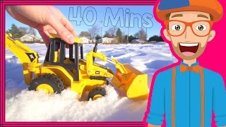 Download Educational Videos for Toddlers with Blippi | Backhoes and Colors! Video