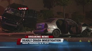 Download 1 killed and several others hospitalized in North Las Vegas crash Video