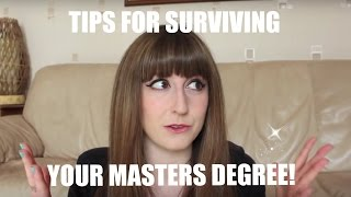 Download Top Tips for Surviving Your Masters Degree! Video