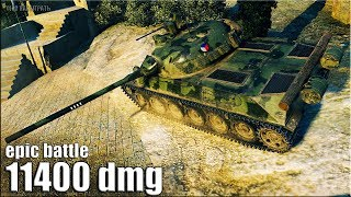 Download Он реально КРУТО ИГРАЕТ на TVP T 50/51 🌟 11400 dmg 🌟 World of Tanks лучший бой на ст 10 Video