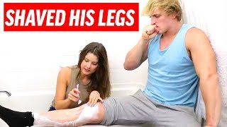 Download Logan Paul Shaved His Legs! | Amanda Cerny Funny How To Tutorials, Sketches and Vlogs Video