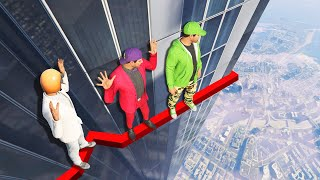 Download DEADLY BUILDING LEDGE CROSSING CHALLENGE! (GTA 5 Funny Moments) Video