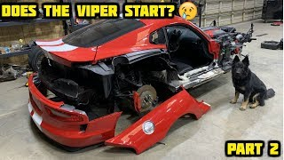 Download Rebuilding a Wrecked 2017 Dodge Viper GT Part 2 Video
