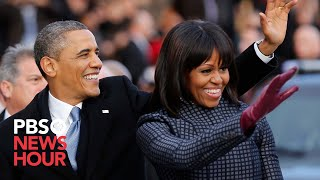Download President Obama and Family Leave for Capitol in Motorcade Video